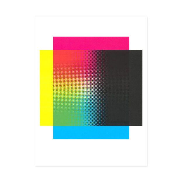 Flavio Trevisan: (CMYK Up Down, Side to Side) Poster in color