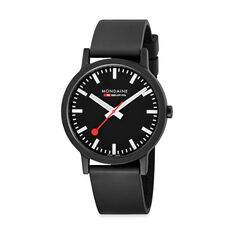 Large Black Mondaine Essence Watch in color