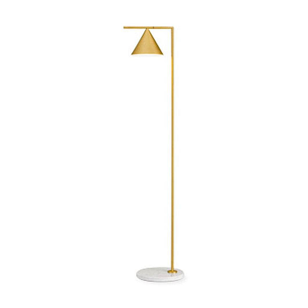 Brass Captain Flint Floor Lamp in color