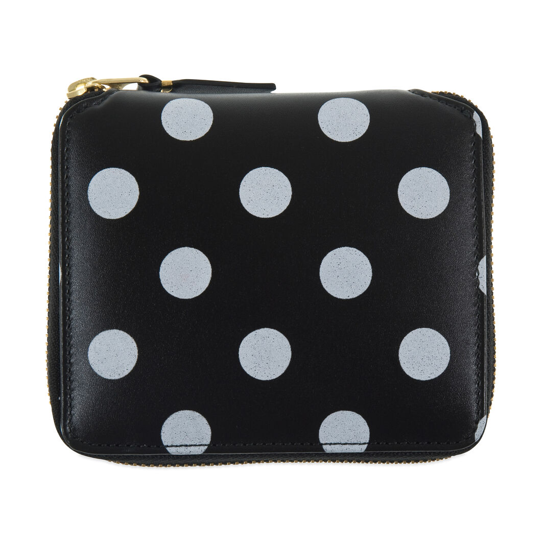 Comme des Garçons SA2100 Black-and-White Polka Dot Wallet in color