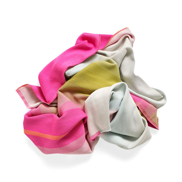 HAY Color Plaid Throw - No.3 Pink & Olive in color Pink/ Green