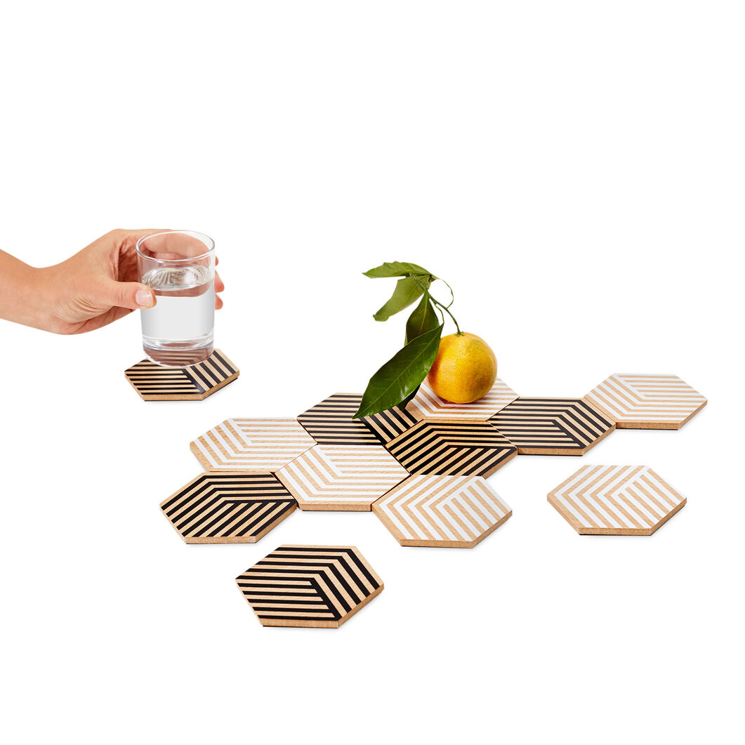 Optic Table Tile Coasters in color