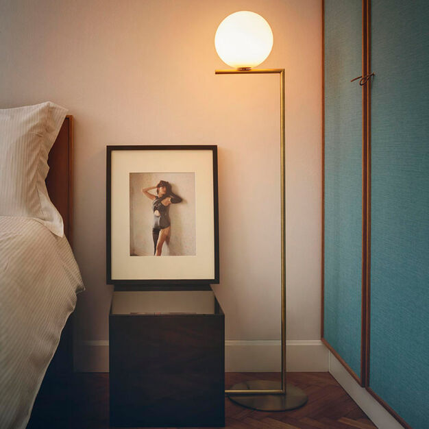 IC F1 Floor Lamp, Brass in color Brass