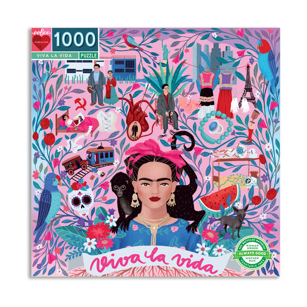 Viva La Vida Frida Kahlo Jigsaw Puzzle - 1,000 Pieces in color
