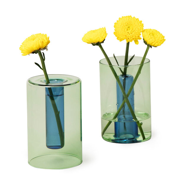 Reversible Glass Vase in color