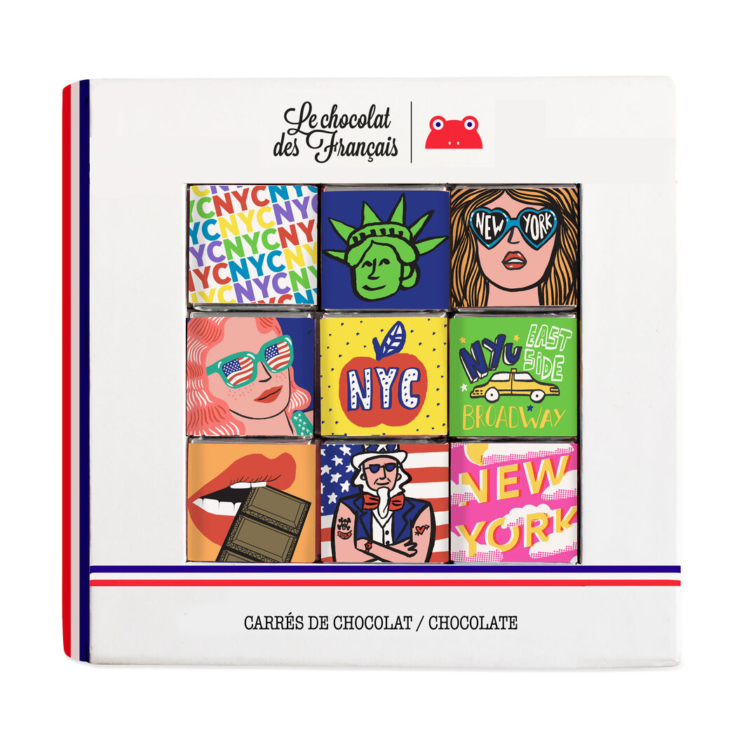 Le chocolat des Français Chocolate NYC 9-Piece Gift Box in color
