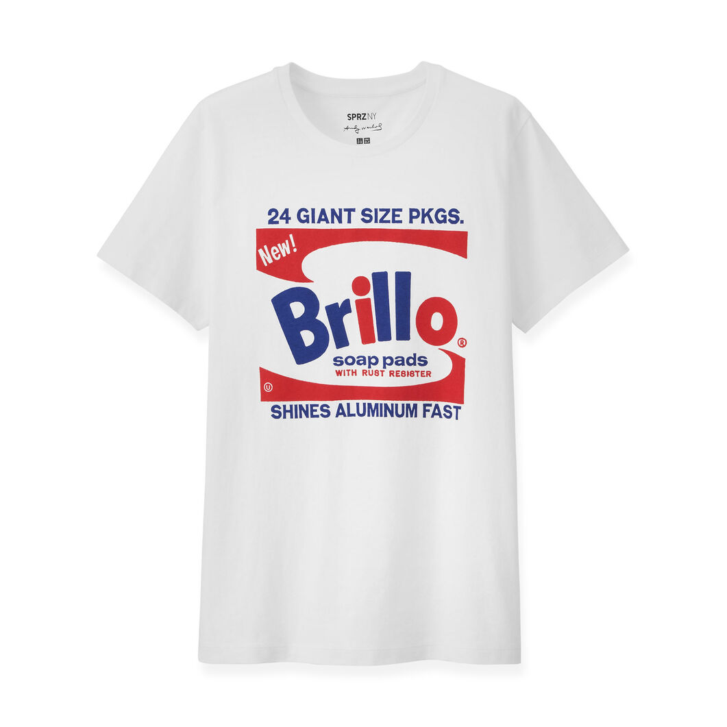 UNIQLO Andy Warhol Brillo Box T-Shirt in color White