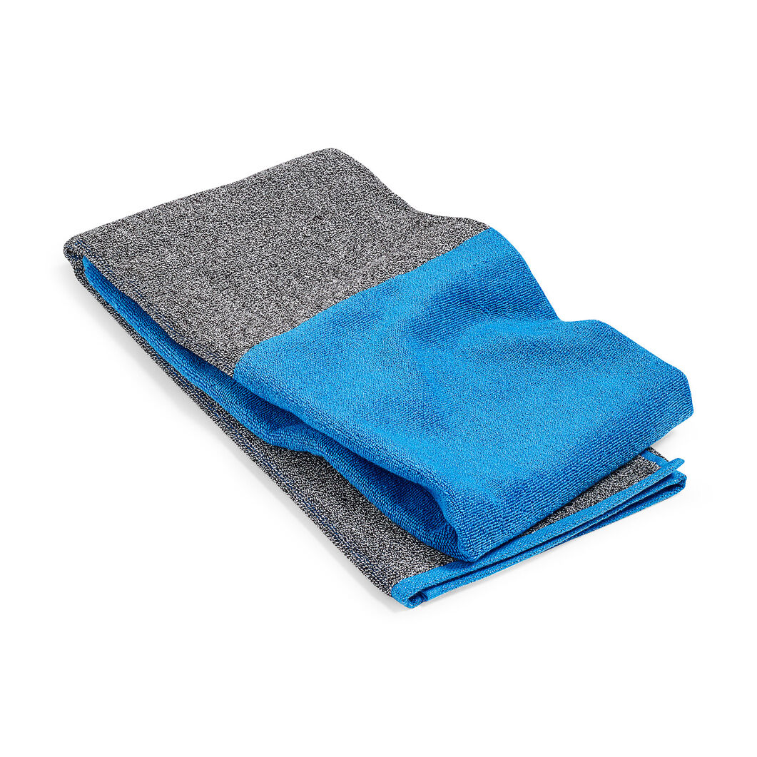 HAY Compose Colorblock Bath Towel  - Sky Blue in color