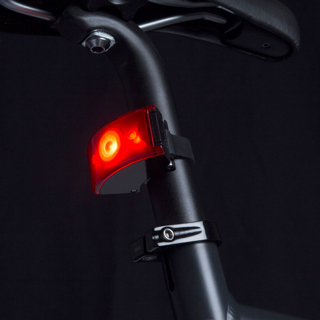 Bookman Curve Rechargeable LED Rear Bike Light in color Black