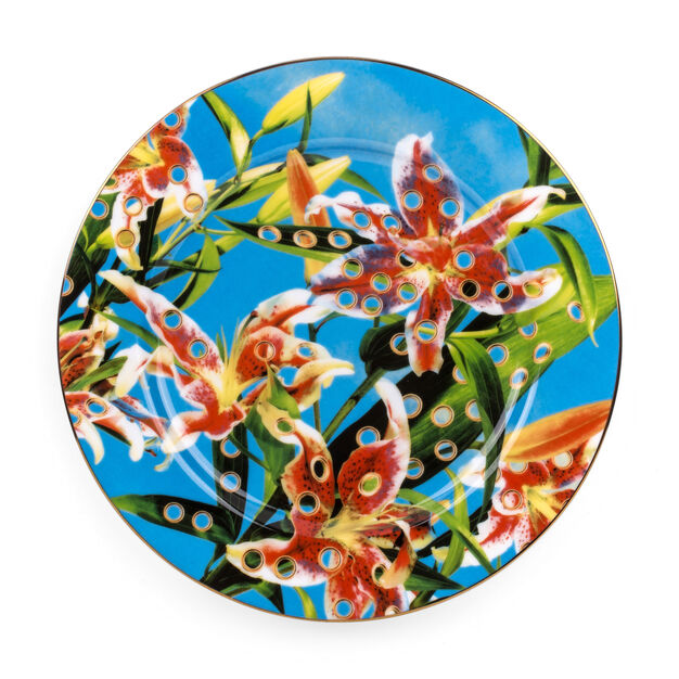 Seletti Wears Toiletpaper: Flowers Plate in color