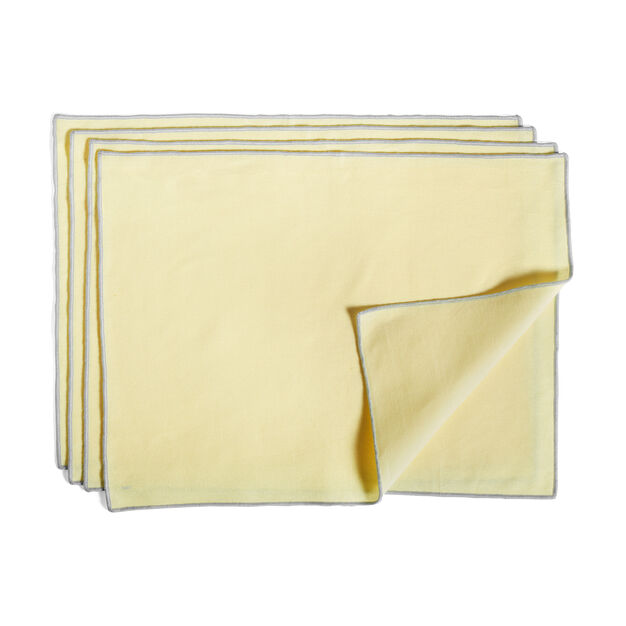 HAY Cotton Placemats - Set of 4 in color Lemon