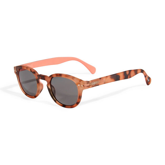 MoMA Edition IZIPIZI Sunglasses #C in color Light Tortoise/ Pink