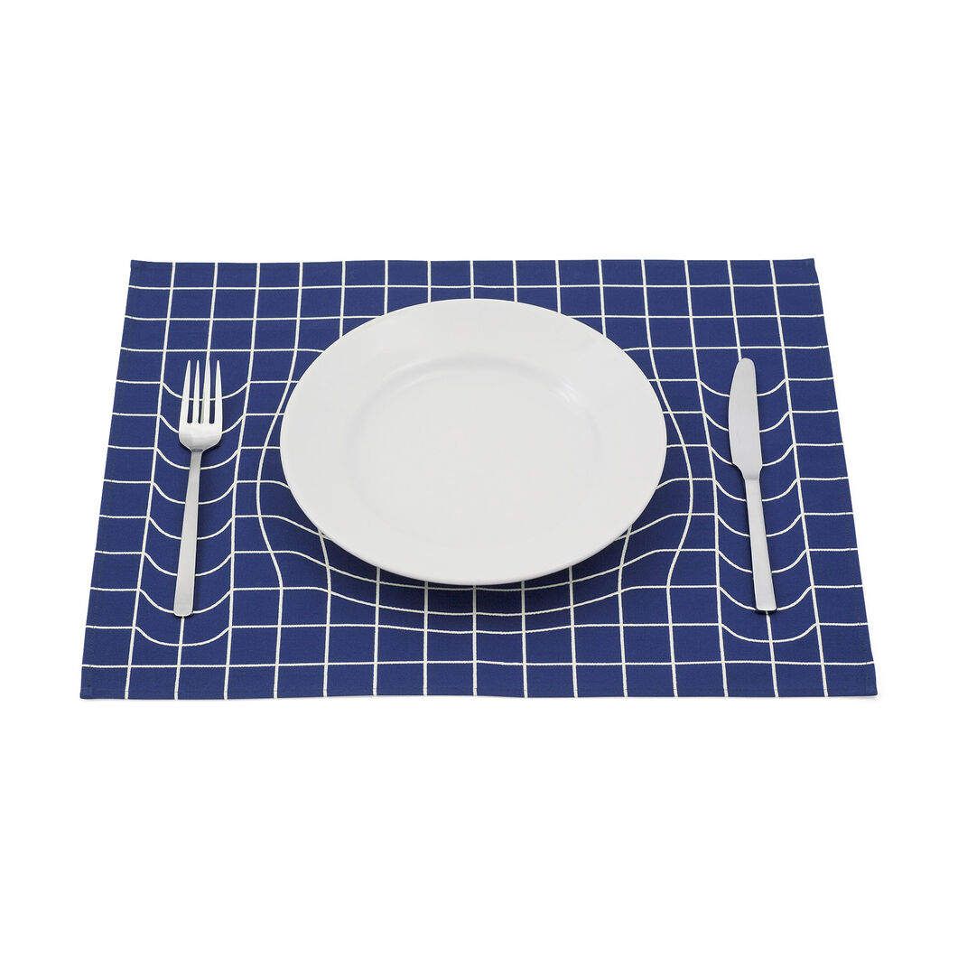 Trick Placemat in color Blue