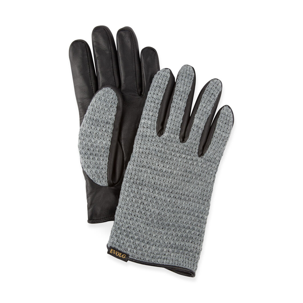 Leather Touch Gloves in color Gray