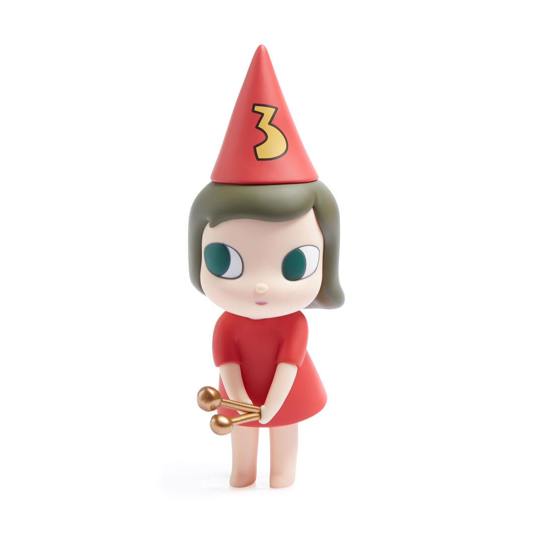 Yoshitomo Nara 123 Drumming Girl Collectible Object in color Red #3