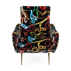Seletti Wears Toiletpaper Snakes Armchair in color