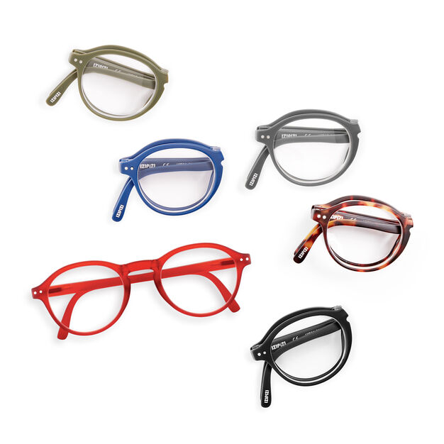 IZIPIZI Foldable Glasses #F in color Red