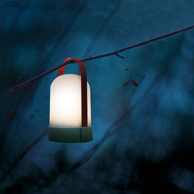 URI Portable Table Lamp in color Blue/ Red