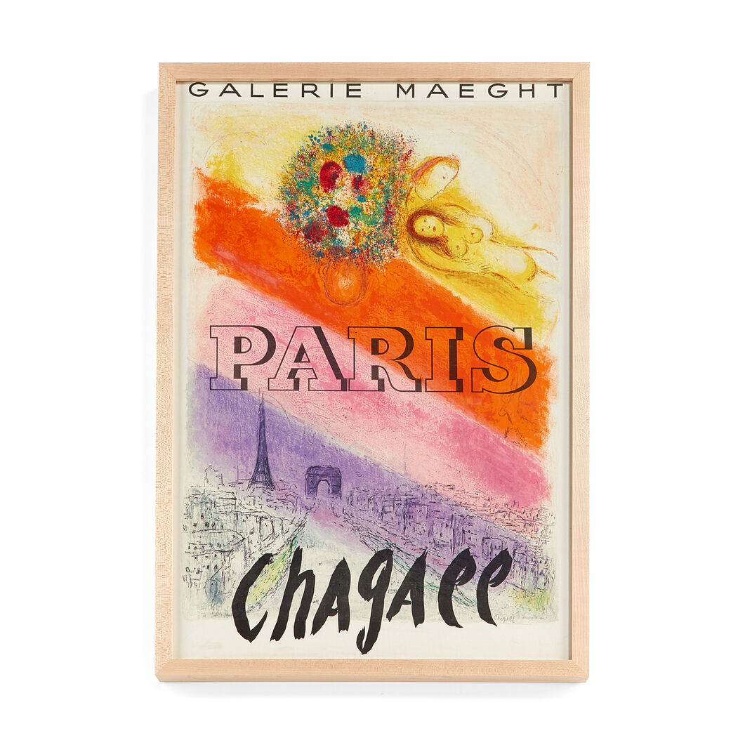 Marc Chagall: Galerie Maeght Paris Framed Poster in color