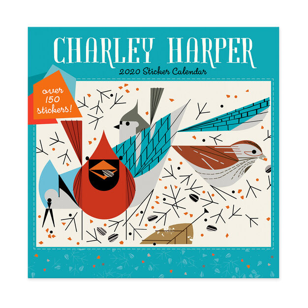 2020 Charley Harper Sticker Wall Calendar in color