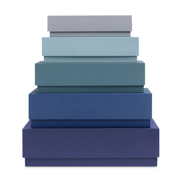 HAY Box Box Rectangle Set Blue in color Blue
