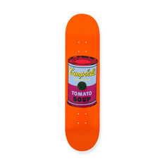 Andy Warhol: Skateboard Colored Campbell's Soup Cans in color Purple