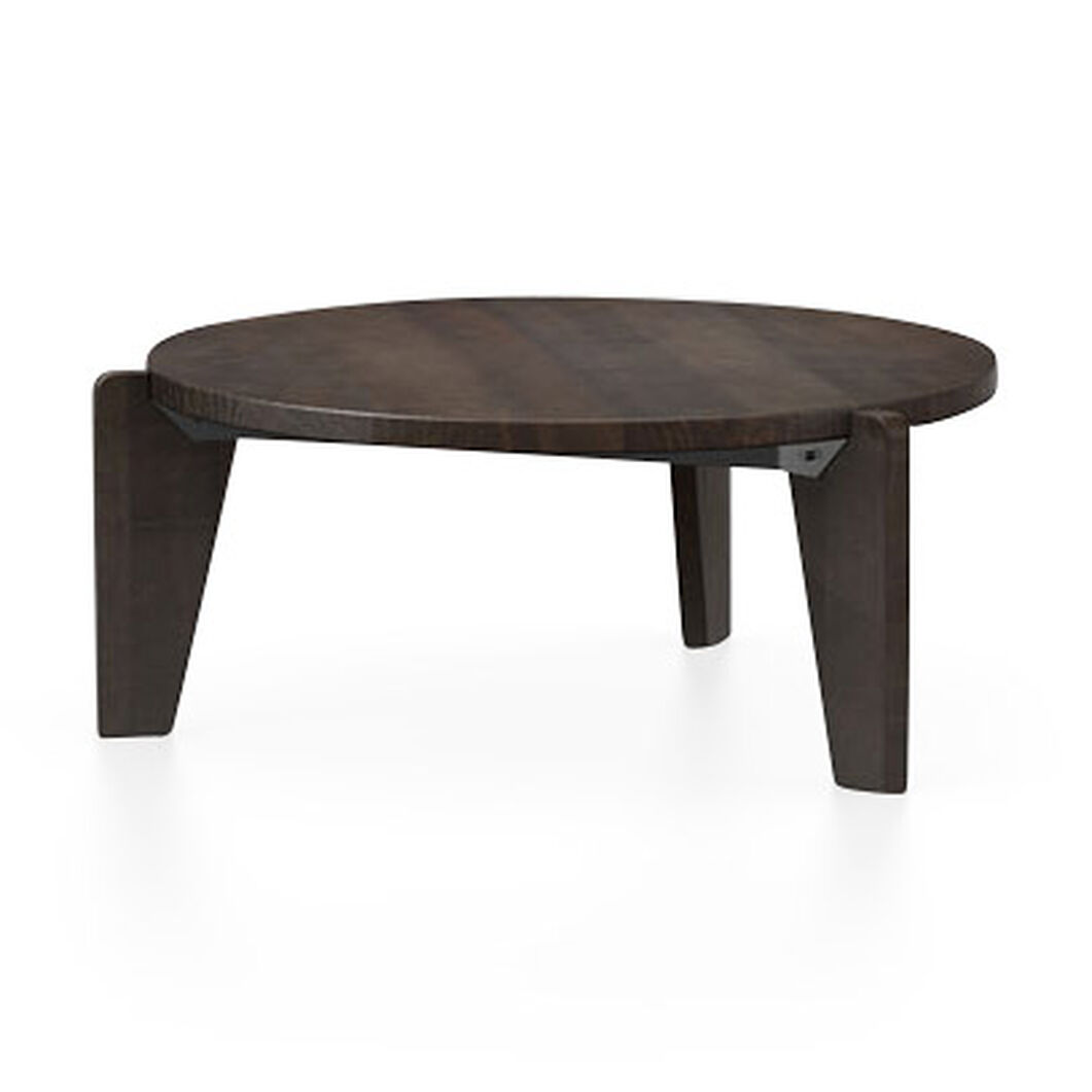 Guéridon Bas Coffee Table in color Black