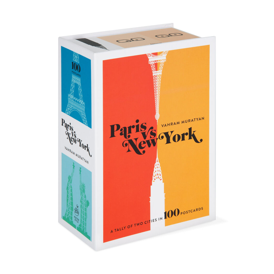 Paris Versus New York Postcard Box Set in color