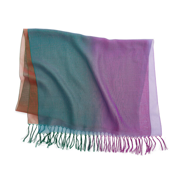 Peacock Kabe Silk Scarf in color