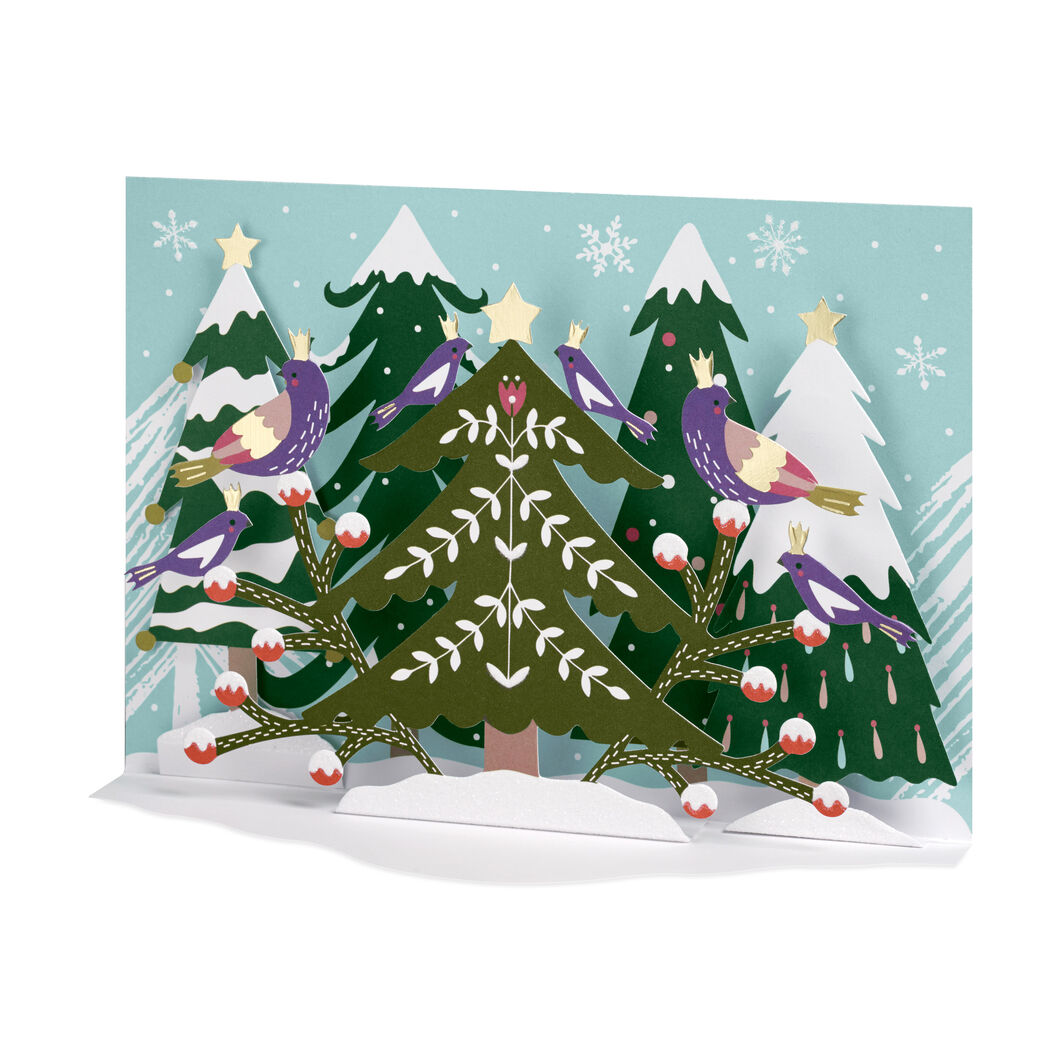 Folk Forest Holiday Cards in color