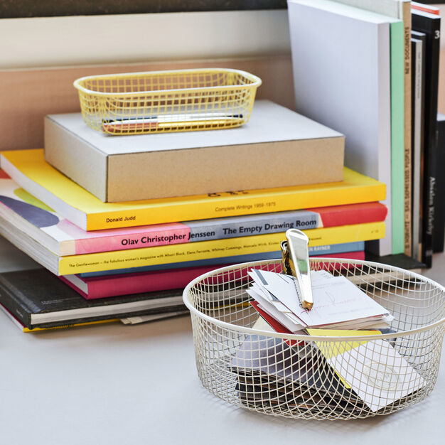 HAY Trinket Trays in color Light Yellow