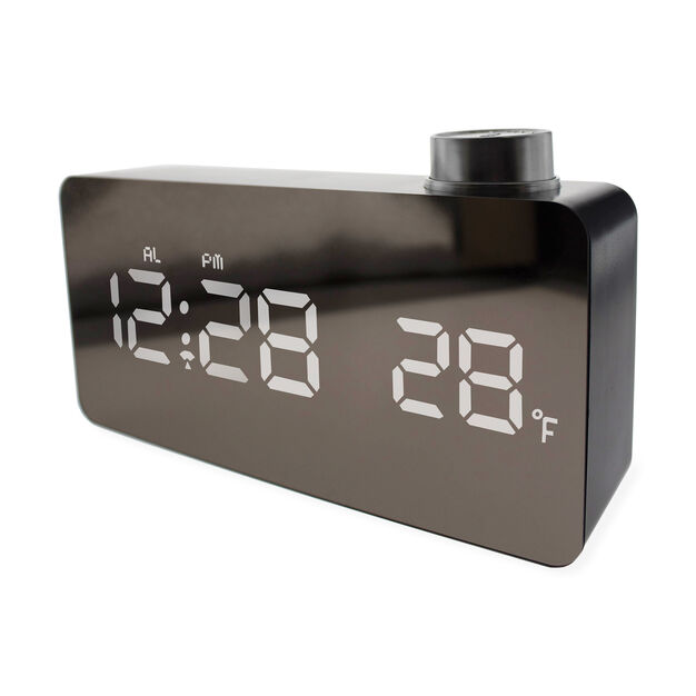 LED Mirror Clock in color