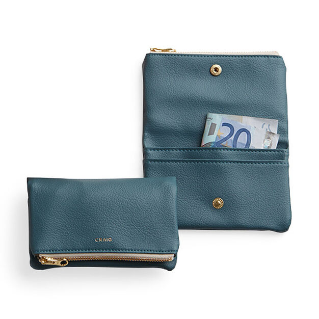 Delfonics Craig Fold-over Wallet in color Teal