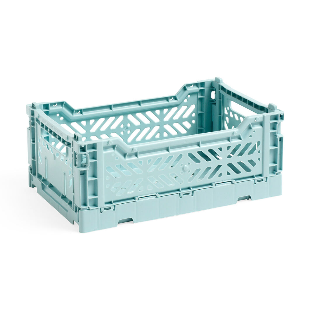HAY Collapsible Storage Bins in color Arctic Blue