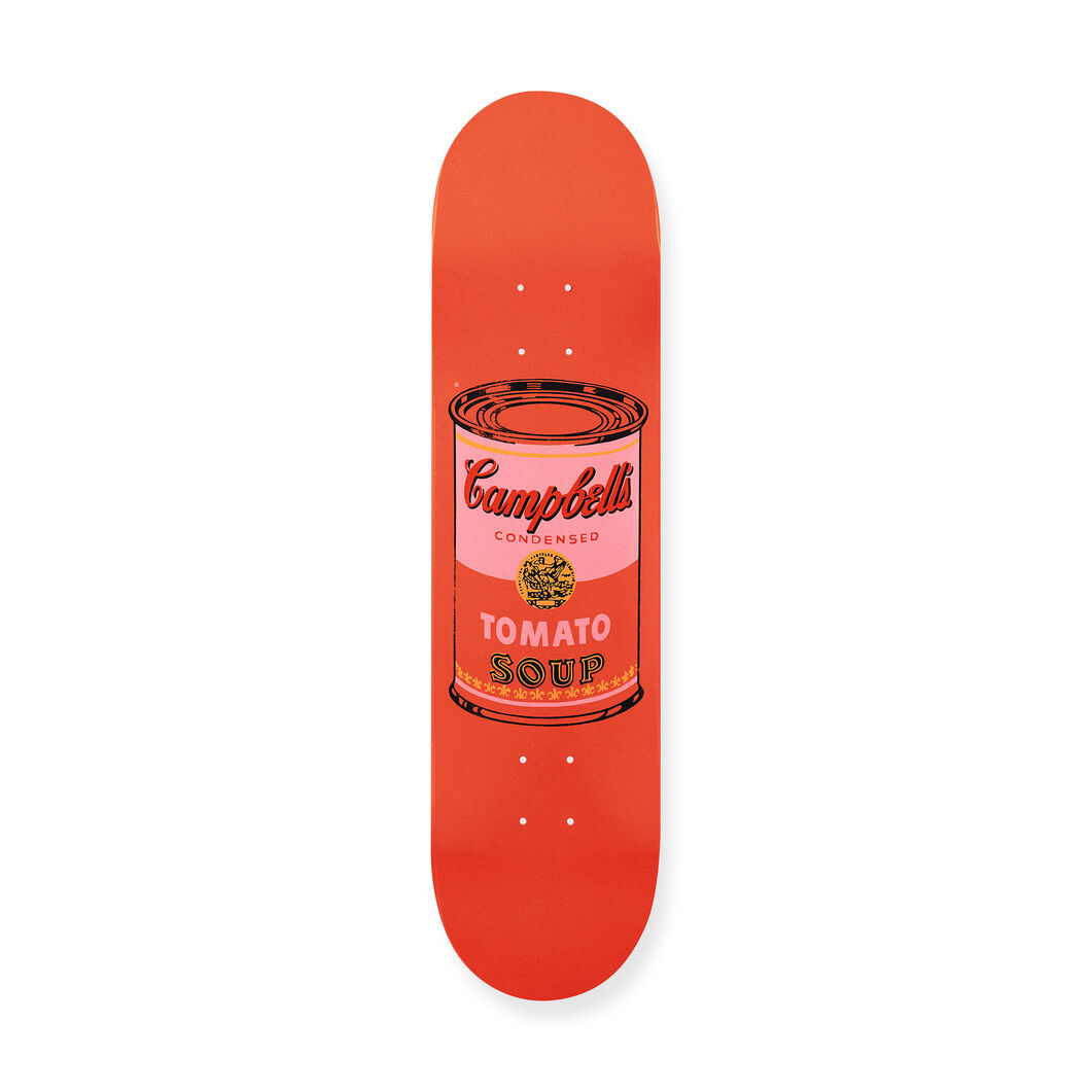 Andy Warhol: Skateboard Colored Campbell's Soup Cans in color Peach