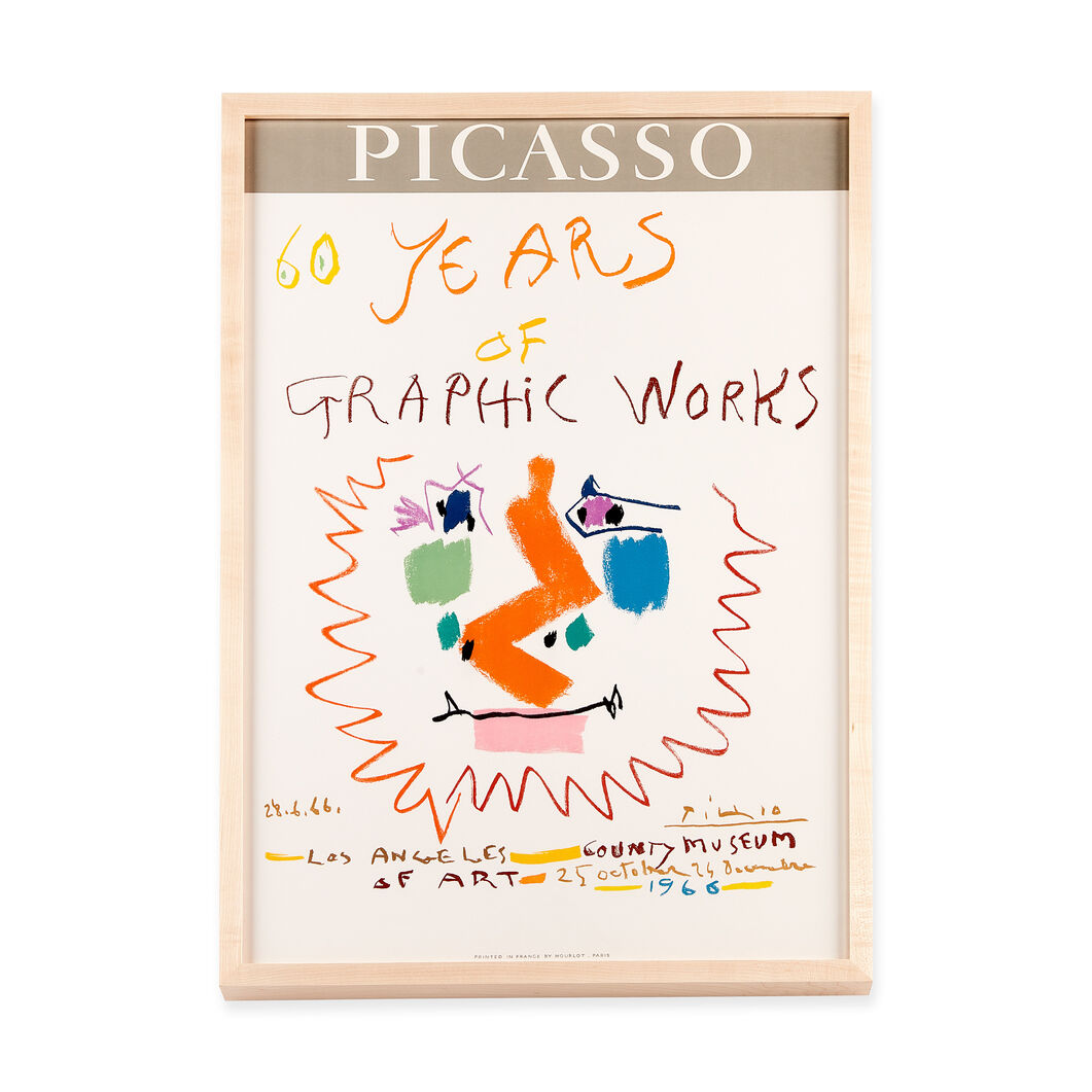 Pablo Picasso: 60 Years of Graphic Works Framed Poster in color