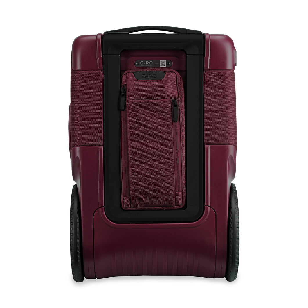 G-RO Smart Carry-On Suitcase in color Maroon
