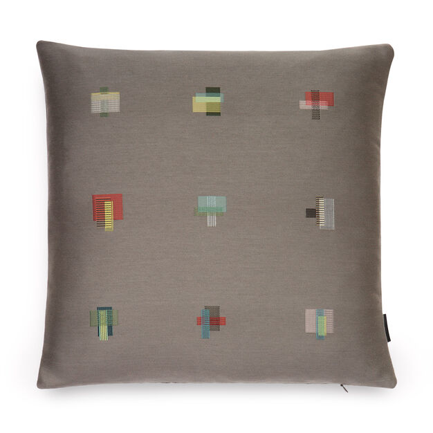 Maharam Darning Sampler Pillow by Scholten & Baijings in color Fog
