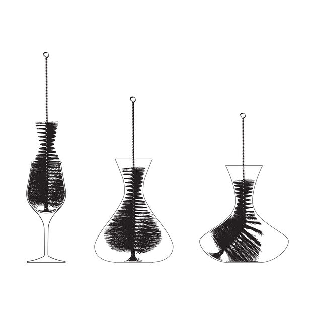 Decanter Brushes in color Black