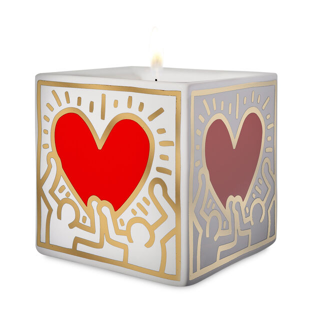 Keith Haring Red Heart Scented Candle Moma Design Store