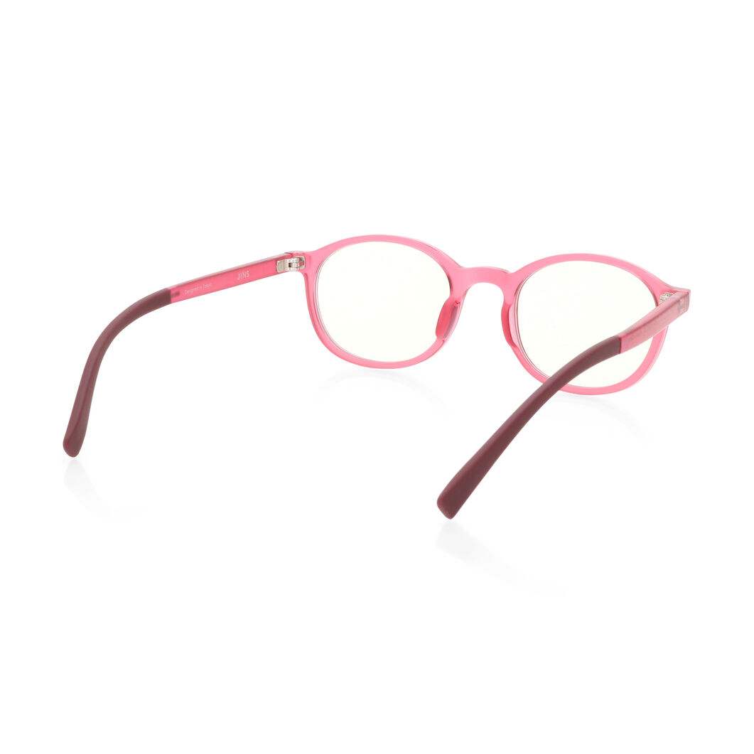 JINS Kids Boston Screen Glasses by Jasper Morrison in color Pink