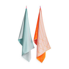 HAY Tea Towels Hanging Grid in color Blue/ Orange