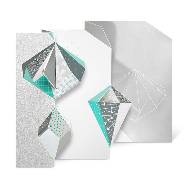 Ice Crystals Holiday Cards in color