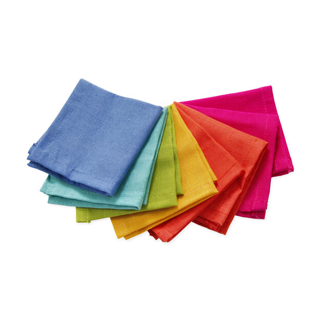 Rainbow Cocktail Napkins in color