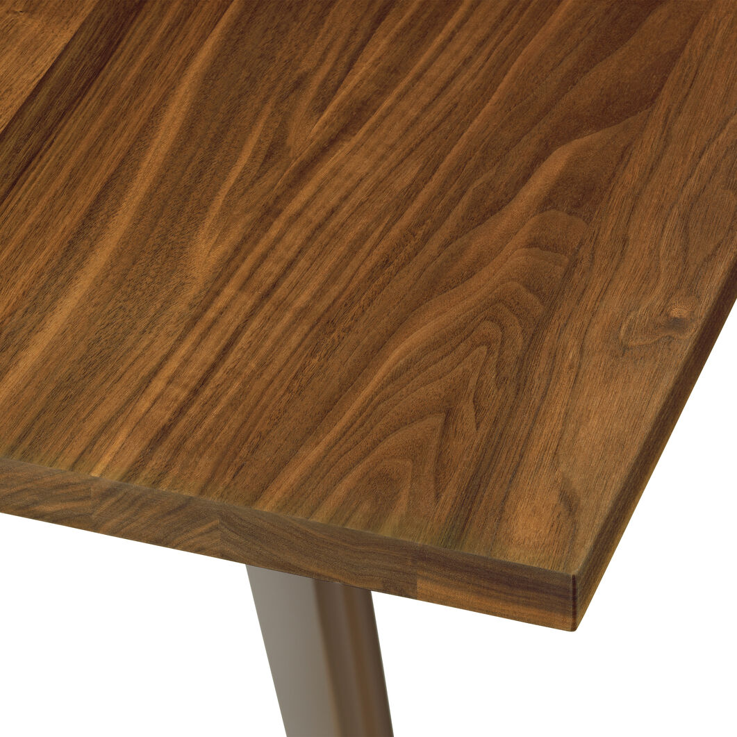 EM Wood-Top Table in color Walnut