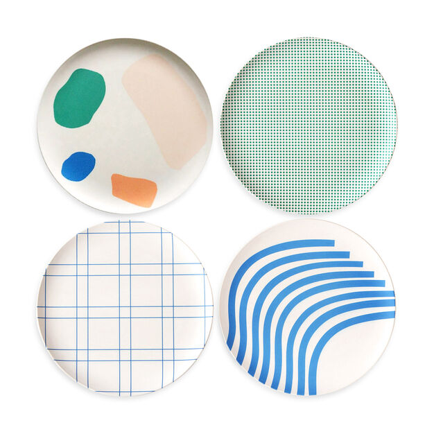 Bamboo Dessert Plates - Set of 4 in color