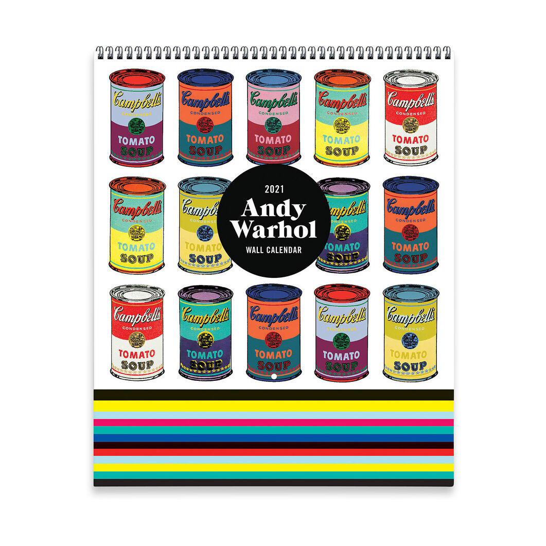 2021 Andy Warhol Tiered Wall Calendar in color