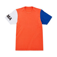MoMA Logo Short-Sleeve T-Shirt in color Blue/Orange