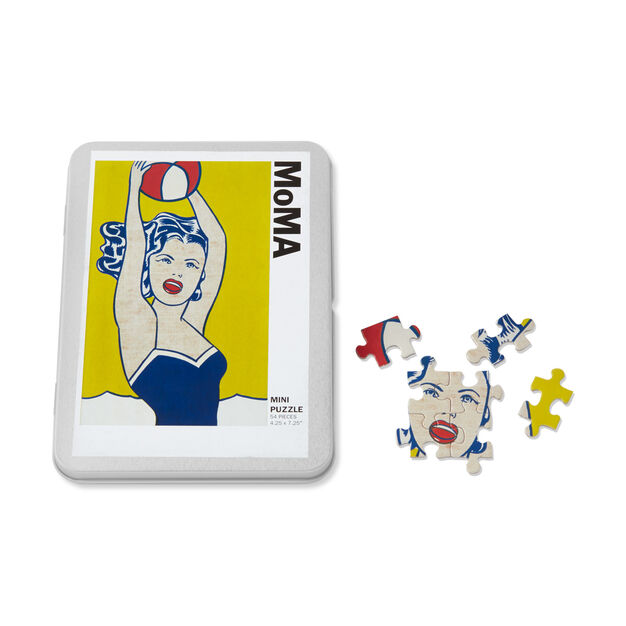 Roy Lichtenstein: Girl With Ball Puzzle in color