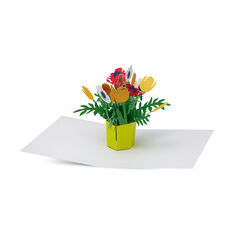 Brilliant Bouquet Pop-Up Note Card in color